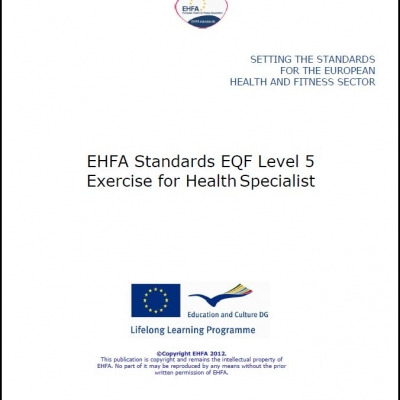 Level 5 EQF standards - exercise for health specialist - 0