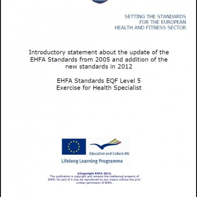 Level 5 EQF standards - exercise for health specialist - 1