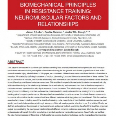 Practical Applications of Biomechanical Principles in Resistance Training - 0