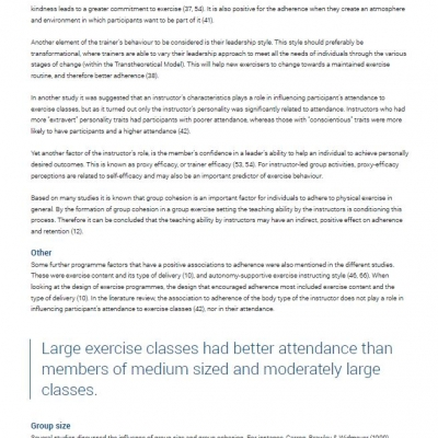 Adherence factors of group fitness - Ebook - 3