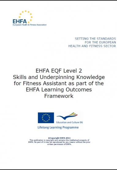 Level 2 EQF standards - fitness assistant 0