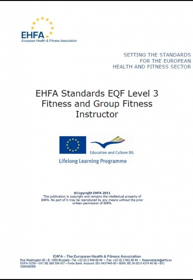 Level 3 EQF standards - fitness & group fitness instructor 0