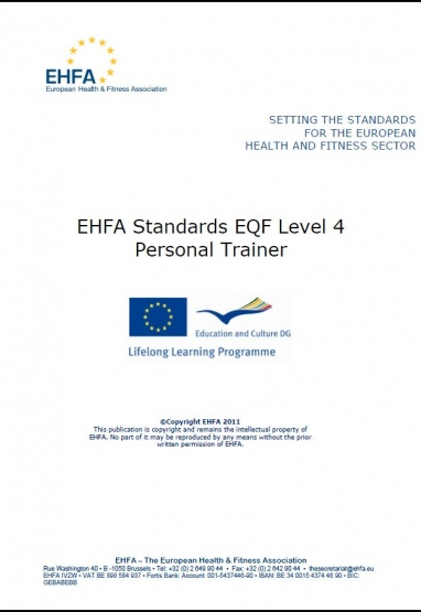 Level 4 EQF standards - personal trainers 0