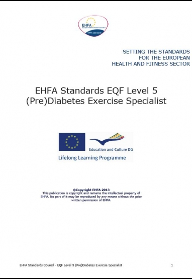 Level 5 EQF standards - prediabetis 0