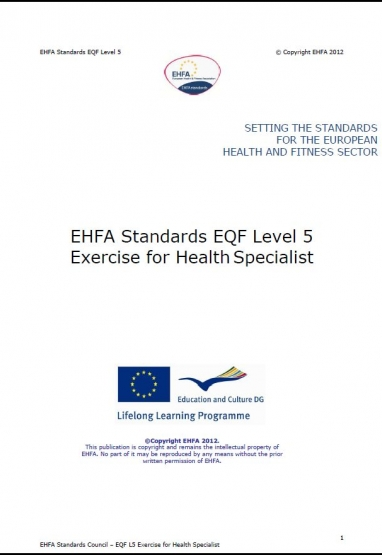 Level 4 EQF standards - exercise for health specialist 0