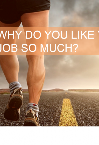 Why do you like your job so much? 0