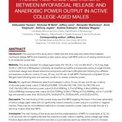 A dose-response relationship between myofascial release and anaerobic power output in active college -aged males - 0